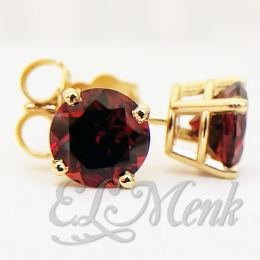6.0mm Mozambique Garnet Earrings